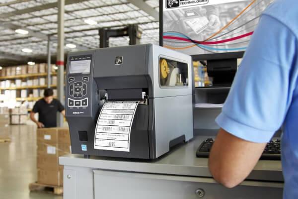 Warehouse printing labels