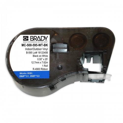 Banda continua vinil Brady MC-500-595-WT-BK 12.7 mm 7.62 m