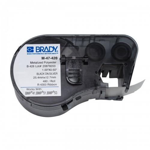Banda de etichete Brady M-47-428 25.4x12.7 mm 480 et./rola