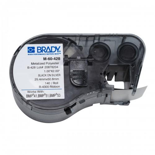 Banda de etichete Brady M-60-428 25.4x50.8 mm 140 et./rola