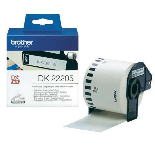 Banda continua hartie Brother DK22205 62mm 30.48m