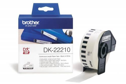 Banda continua hartie Brother DK22210 29mm 30.48m