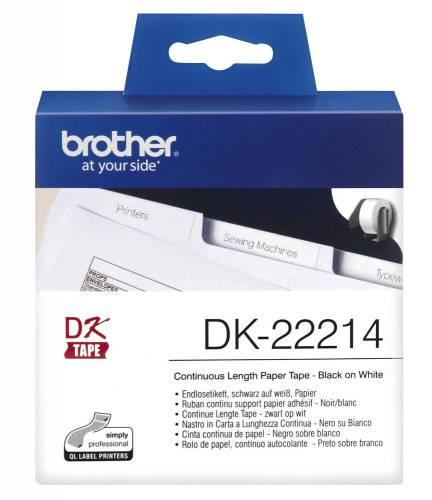 Banda continua hartie Brother DK22214 12mm 30.48m