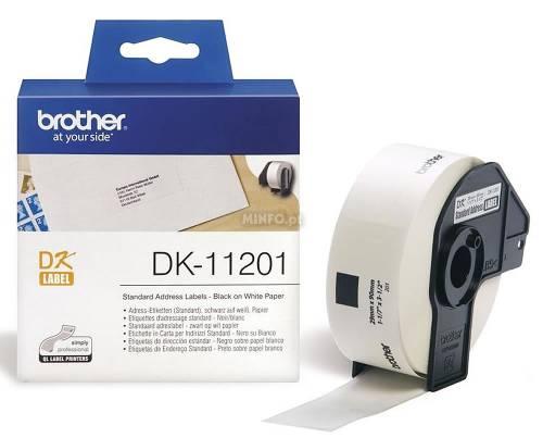 Banda de etichete Brother DK11201 29x90mm 400 et./rola