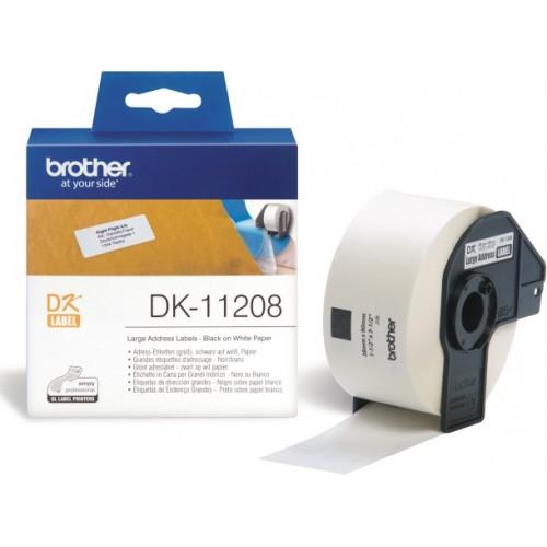 Banda de etichete Brother DK11208 38x90mm 400 et./rola