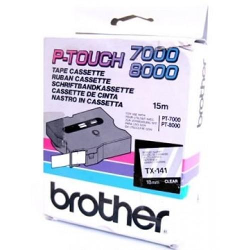 Banda continua laminata Brother TX141 18mm 15m