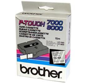Banda continua laminata Brother TX151 24mm 15m