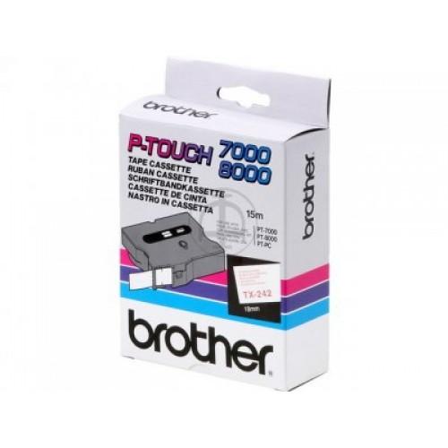 Banda continua laminata Brother TX242 18mm 15m