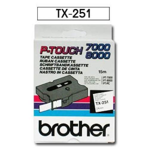 Banda continua laminata Brother TX251 24mm 15m