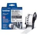 Banda continua laminata Brother DK22211, 29mm, 15,24m
