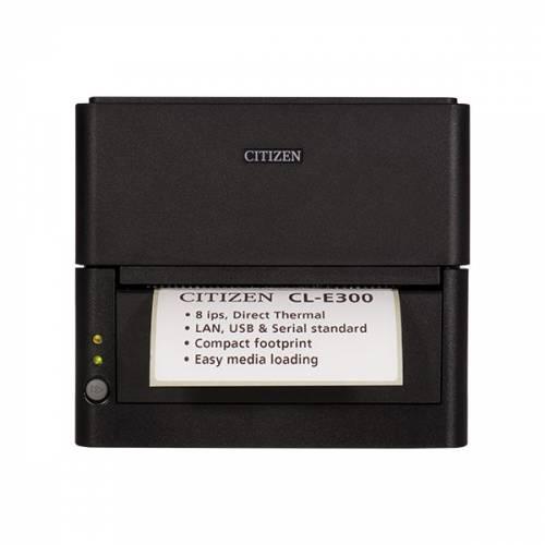 Imprimanta de etichete Citizen CL-E300 203DPI Ethernet cutter neagra