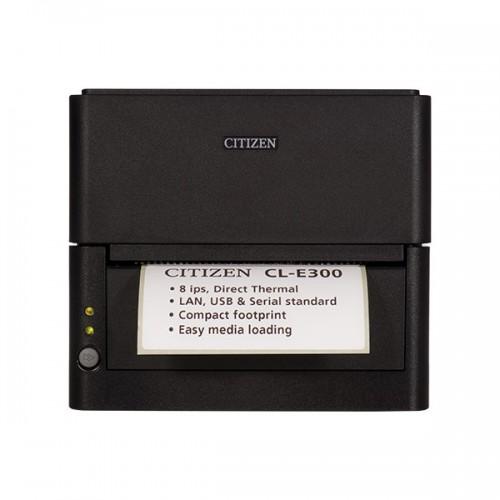 Imprimanta de etichete Citizen CL-E300 203DPI Ethernet cutter heavy duty neagra