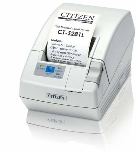 imprimanta de etichete citizen ct-s281l 203dpi usb auto-cutter