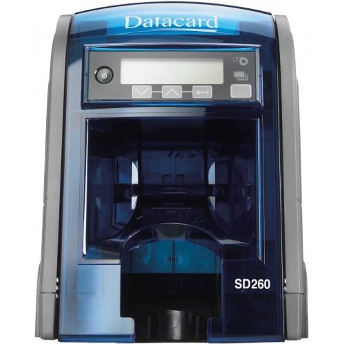 Imprimanta de carduri Datacard SD260 single side rewrite alimentare manuala MSR Ethernet