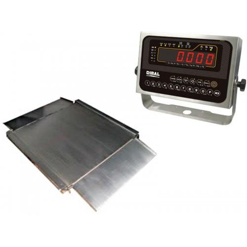Cantar platforma Dibal 4PBPI 1500kg inox display LCD