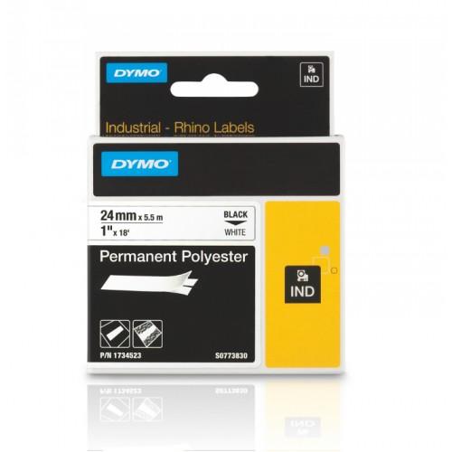 Banda poliester Dymo DY1734523 24mm Negru/Alb