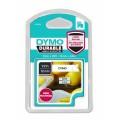 Banda Dymo D1 Durable DY1978364 12 mm, negru/alb