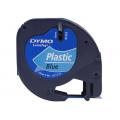 Banda Dymo Letratag DY91225 12mm, plastic albastru