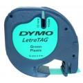 Banda Dymo Letratag DY91204 12mm, plastic verde