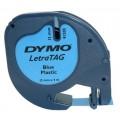 Banda Dymo Letratag DY91205 12mm, plastic albastru