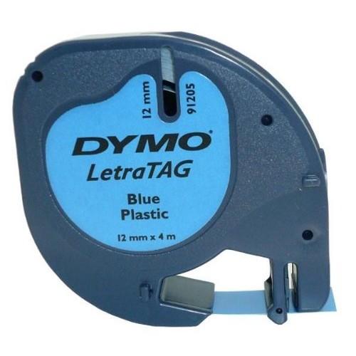 Banda Dymo Letratag DY91205 12mm plastic albastru