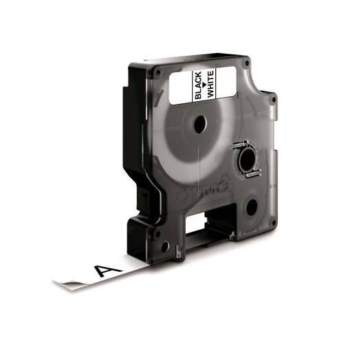 Banda nylon flexibil Dymo D1 DY16958 19mm Negru/Alb