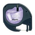 Banda Dymo Letratag DY12267 12mm, plastic transparent
