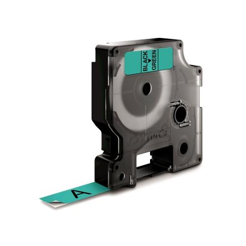 Banda laminata Dymo D1 DY45019 12mm Negru/Verde