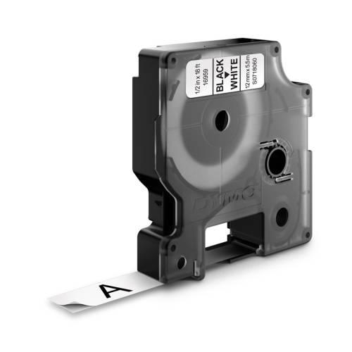 Banda poliester Dymo DY16959 12mm Negru/Alb