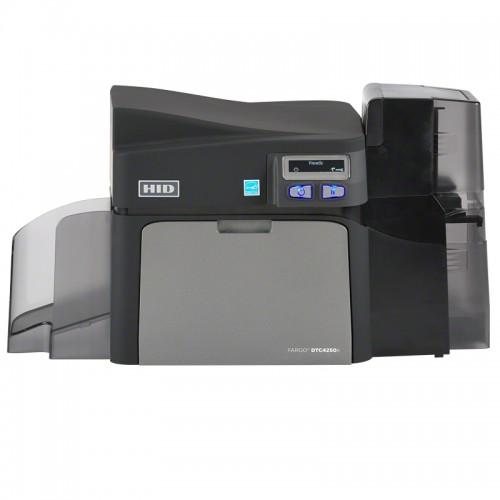 Imprimanta de carduri HID Fargo DTC4250e dual side Ethernet LCD suport suplimentar