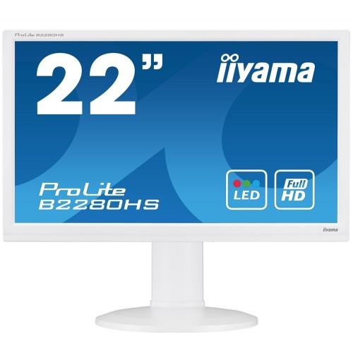 Monitor iiyama ProLite B2280WSD 21.5'' Alb