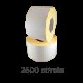 Role de etichete semilucioase 84x65mm, 2500 et./rola