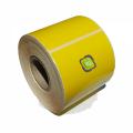 Role de etichete termice galbene 38x25mm, 1500 et./rola