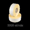 Role de etichete semilucioase 30x15mm
