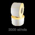 Role de etichete semilucioase 42x21mm, 2000 et./rola