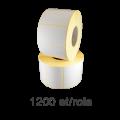 Role de etichete semilucioase 50x40mm