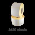 Role de etichete semilucioase detasabile 80x40mm, 3450 et./rola