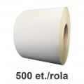 Role de etichete semilucioase 95x195mm, 500 et./rola