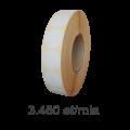 Role de etichete semilucioase rotunde 40mm, 3450 et./rola