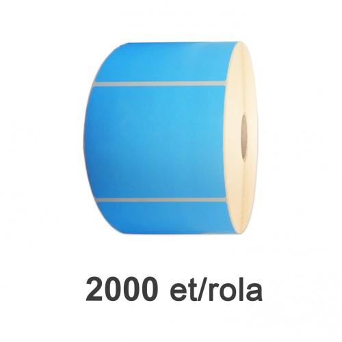 Role de etichete semilucioase albastre 110x80mm 2000 et./rola