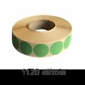 Role de etichete semilucioase rotunde verzi 30mm, 1120 et./rola