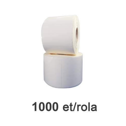 Role de etichete plastic albe 70x52mm 1000 et./rola