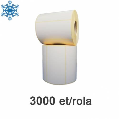 Role de etichete semilucioase 100x50mm pentru congelate 3000 et./rola