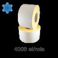 Role de etichete semilucioase 50x40mm, pentru congelate, 4000 et./rola