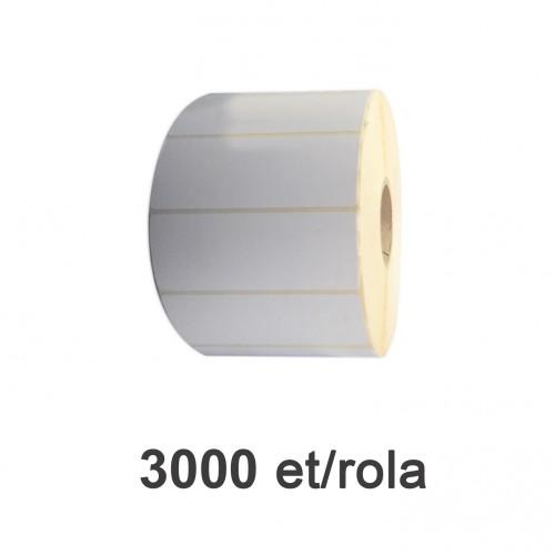 Role de etichete semilucioase 90x30mm 3000 et./rola
