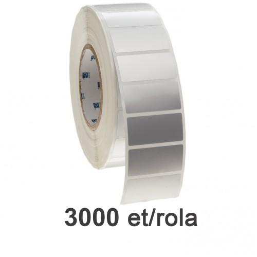 Role De Etichete Plastic Argintii 35x25 Mm 3000 Et./rola