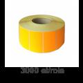 Role de etichete termice portocalii 30x15mm, 3000 et./rola