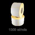 Role de etichete plastic albe 50x30mm, 1000 et./rola