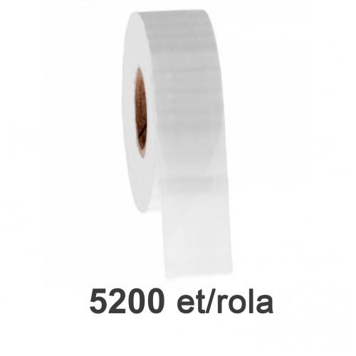 Role de etichete plastic transparente 50x26mm 5200 et./rola