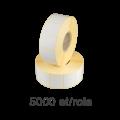 Role de etichete semilucioase 33x30mm, 5000 et./rola